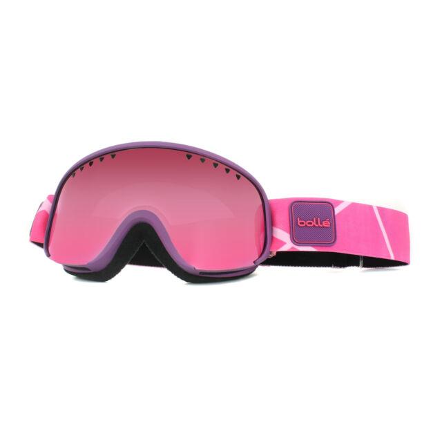 1ca4dc530549 Bolle Womens Scarlett Ski Snow Goggles Purple Pink   Vermillon Gun ...