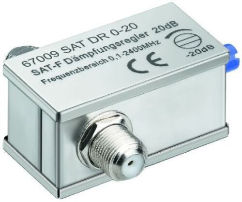 SAT Dämpfungsregler 0-20 dB 0,1-2400 MHz 75 Ohm