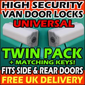 CITROEN Van High Security Dead Locks For Rear Doors or Side Loading Sliding Hasp