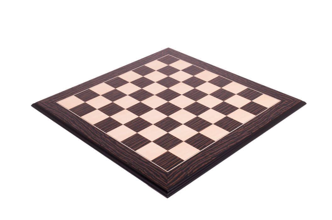 Tiger Ebony & Maple Standard Traditional Chess Board - 2.75