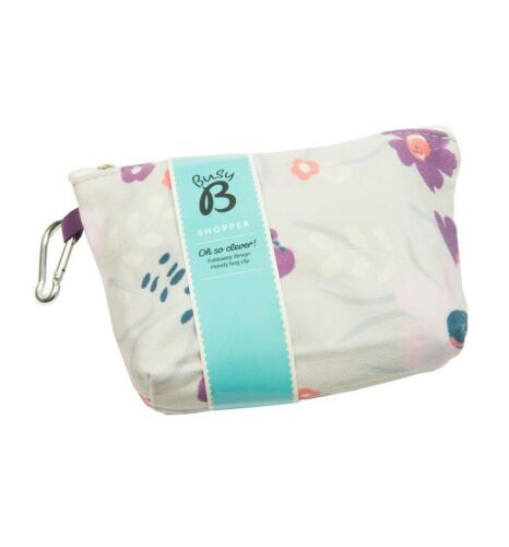 NEW Busy B Shopper Foldable Shopping Bag Floral