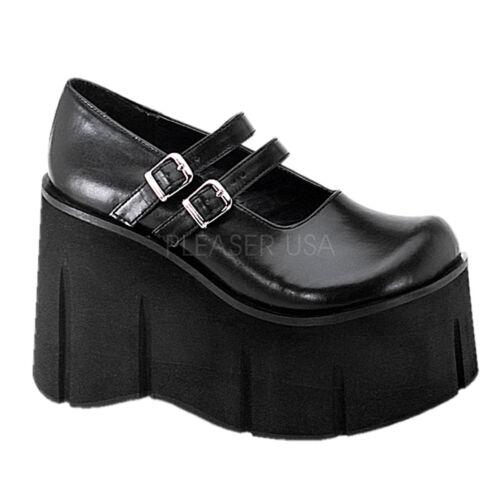 "DEMONIA KERA08//B Women/'s Gothic Punk Black 4 1//2/"" Platform Mary Janes Shoes"