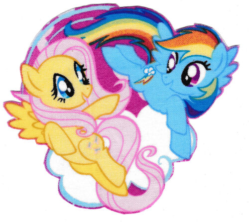 "4/"" My little pony dash fluttershy on cloud fabric applique iron on character"