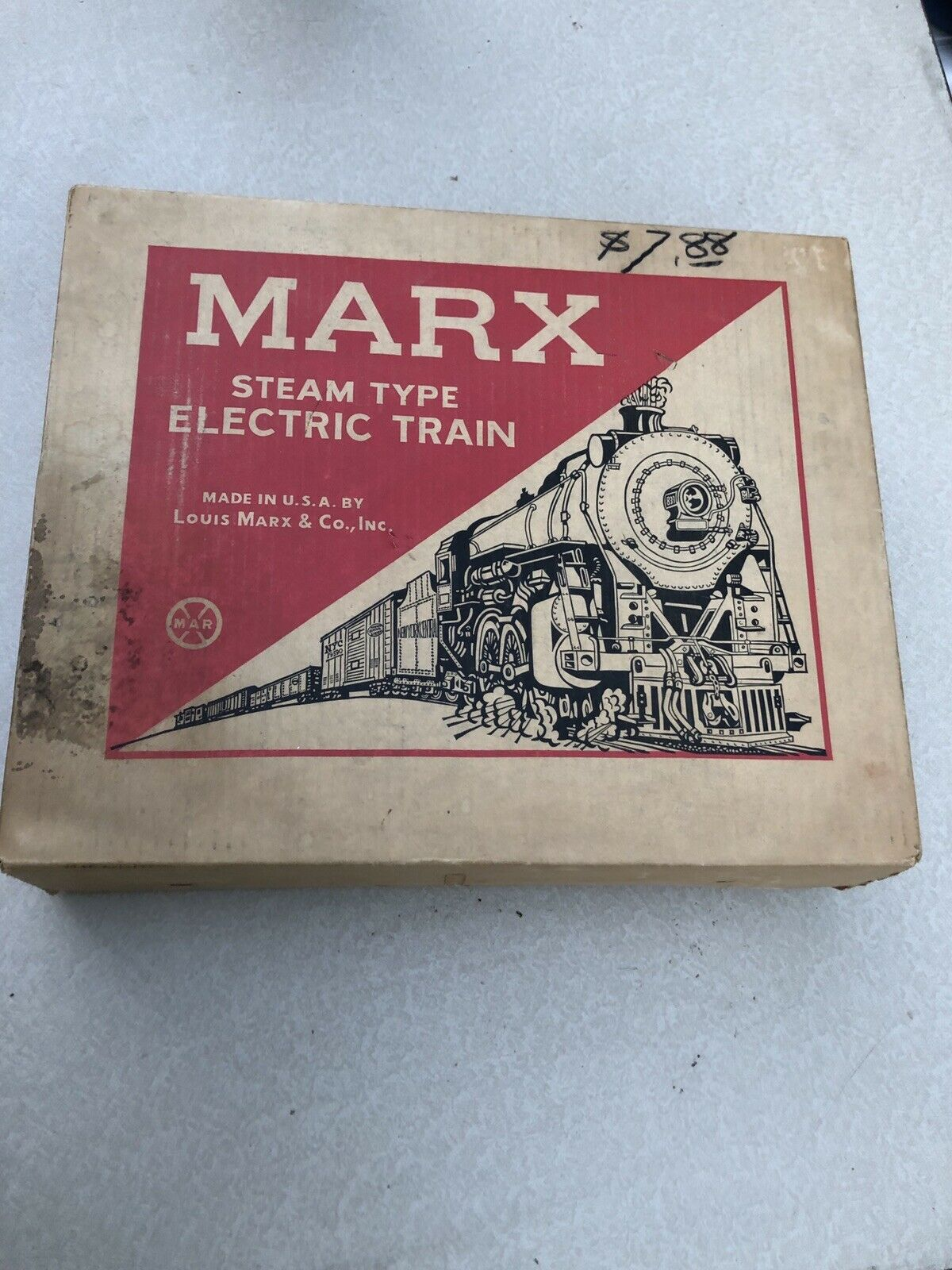 Marx Steam Type Electric Train w Original Box (Tested)