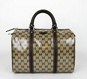 Image Is Loading New Gucci Crystal Gg Canvas Joy Boston Satchel