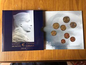 Série Officiel 2014 Lettonie 8 Monnaies Euro FDC Numis Et Billets de Banque
