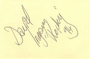 David-Ingram-signed-autograph-book-page-The-Rocky-Horror-Show-theatre-Actor-1994