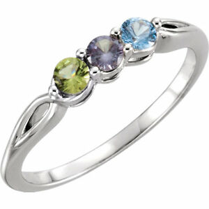 Mother S Day Ring Jewelry Sterling Silver Birthstone Ring 1 5 Stones