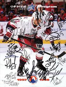 Hartford Wolfpack Autographed Signed Program & Proof 20+ sigs