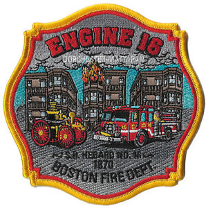 """4/"""" x 5/"""" Dorchester/"""" *NEW* Boston Engine-17 /""""Meetinghouse Hill fire patch MA"""