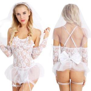 6d0133194 Image is loading Women-Sexy-Lingerie-Babydoll-Bride-Wedding-Fancy-Dress-