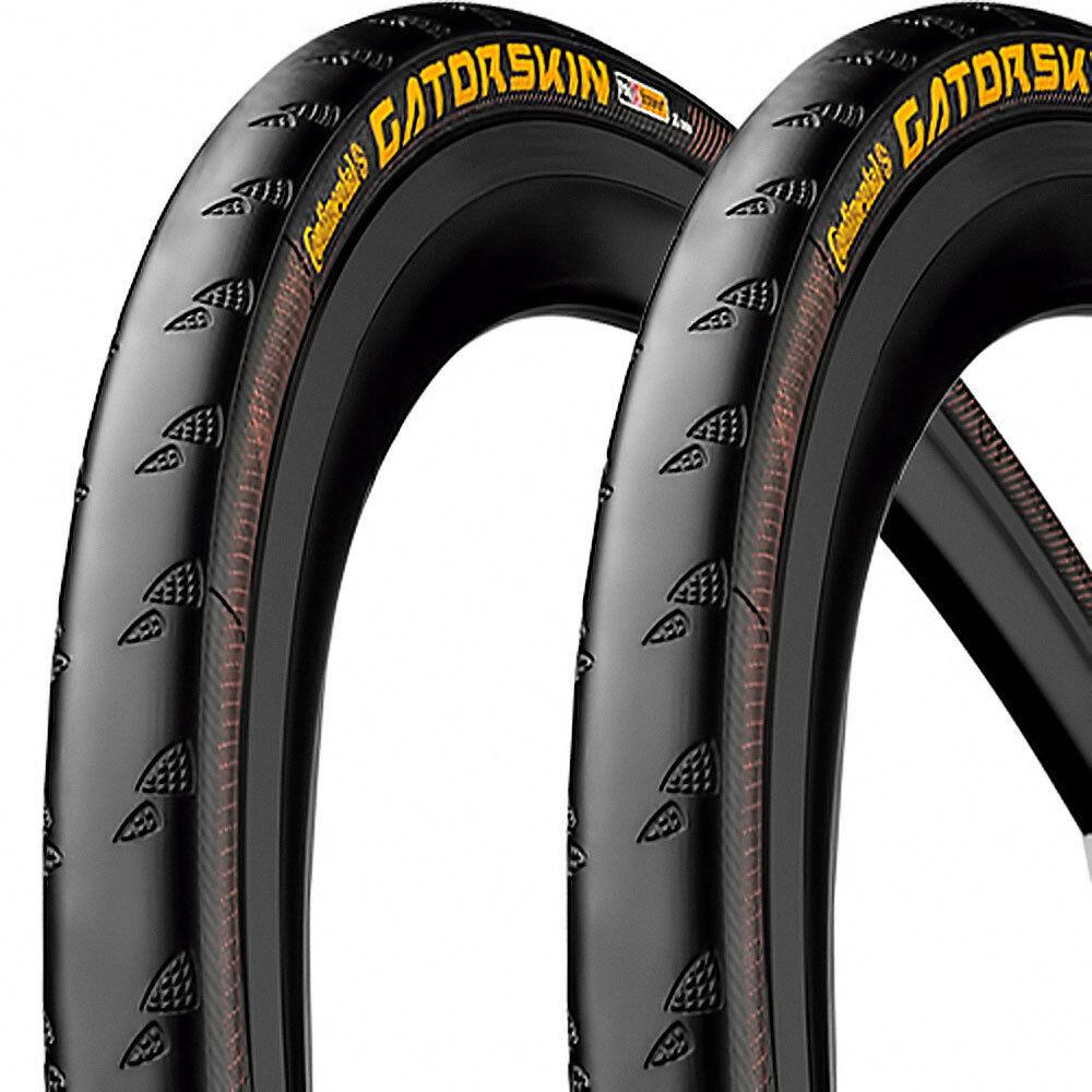 2x continental neumáticos gatorskin alambre 28 23-622 700 x23c bicicleta bicicleta x23c de carreras negro Duraskin af3602