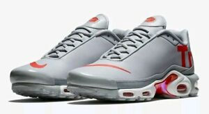 Details about Nike Air Max Plus TN SE Men's 11 Leather Mercurial Wolf Grey Red Running Shoes