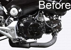 honda grom msx stainless steel engine case cover screws bolts dress  kit  ebay