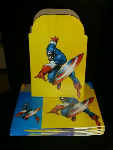 Captain America Party Favor Boxes *10CT* Loot Treat Goody Bags Party Supplies