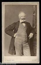 g916 Victor HUGO Misérables book writer 1860's original photo CDV J Maes Anveres