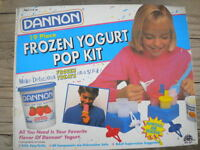 Rare Dannon Frozen Yogurt Pop Kit 19 Piece Vintage Summer Freezer Treat