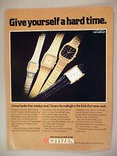 Citizen PermaBright Watch PRINT AD - 1982 ~ watches, wristwatch