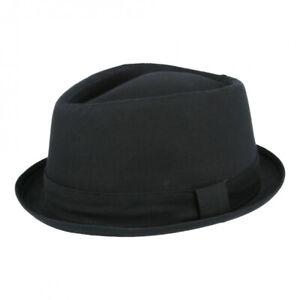 Black Maz Woolmix Pork Pie Hat