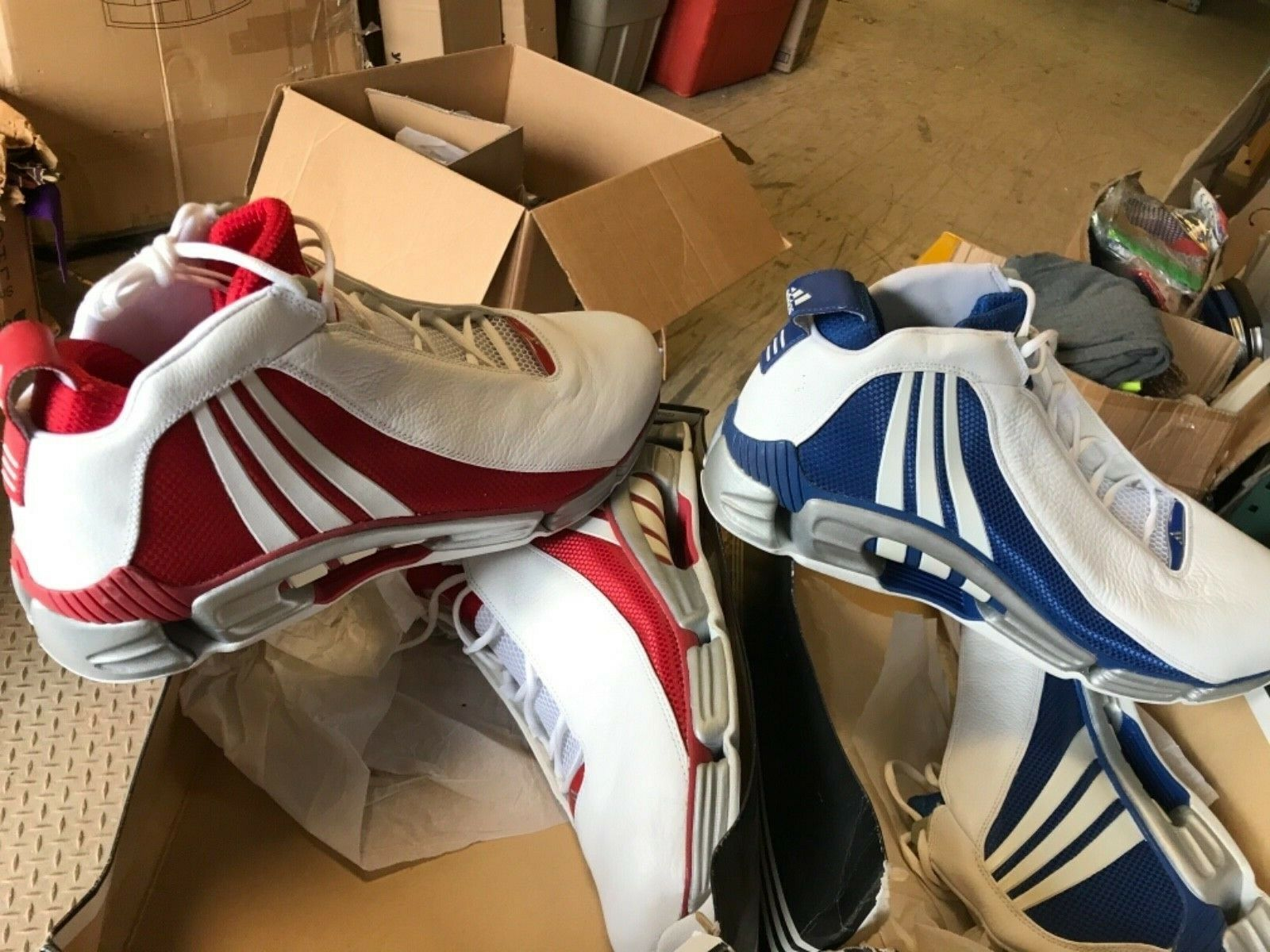 2 New Adidas Size 19 Sneakers Men's Superstar basketball
