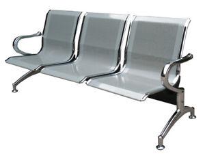 Panca a posti sedie sala d attesa in acciaio ospite riunione