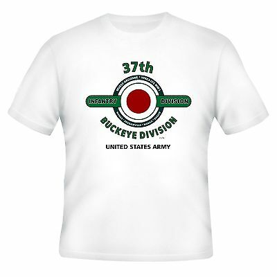 37TH INFANTRY DIVISION & WORLD WAR II CAMPAIGNS VETERAN  2-SIDED SHIRT