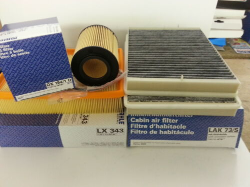 BMW E39 530i  Mahle Oil Air Pollen Filters Service Kit OX154//1D LX343 LAK73//S