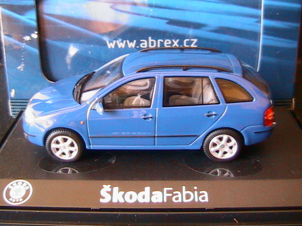 SKODA FABIA COMBI 1.4 16V bleu DYNAMIC ABREX 143AB004L 1 43 bleu BLEU SOUPAPES