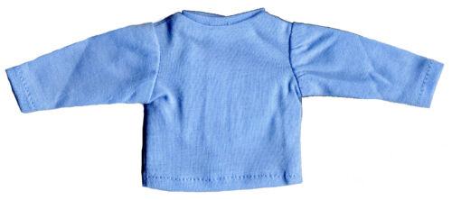 """Boneka manches longues T-shirt 15 Cm div couleurs//Long Manche T-shirt 6/"""" var Col."""