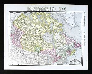 Ottawa On Map Of Canada.1895 Rand Mcnally Map Canada Ontario Quebec British Columbia