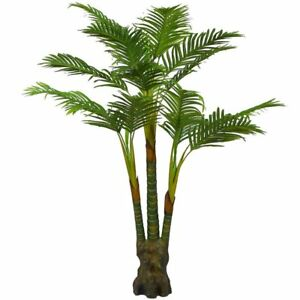 Image Is Loading Artificial Plants Palm Tree Large Silk Green Leaves