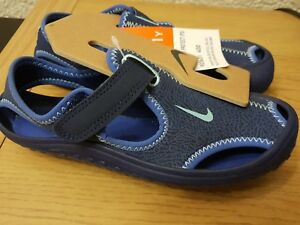 89c098cee Image is loading Nike-Sunray-Protect-PS-Kids-Sandals-Blue-903631-