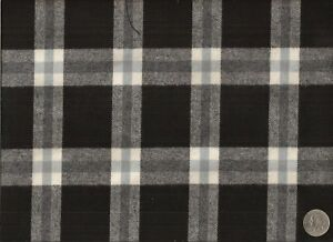 Woven Sophisticated Country Black White Flannel Plaid Upholstery