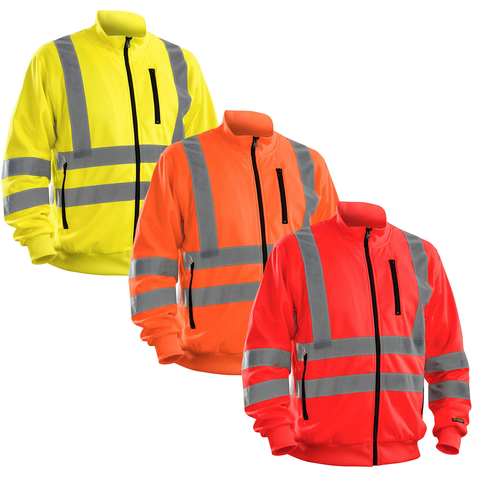 Blaklader Hi Vis Full Zipped Work SweatShirt. Class 3  - 3358