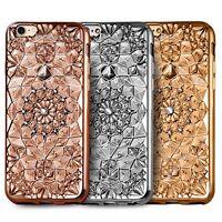 3D Diamond Flower Bling TPU Gel Case Back Cover For Various Mobile Phones