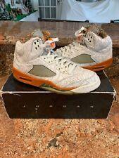 56e1daed0968 Nike Air Jordan V 5 Retro RA White olive-orange-bison Laser 315749 ...