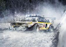"Audi Quattro Rally rally cars snow Audi A1 Large  30"" X 20"" Canvas Print"