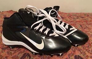 ba65a2ab6 New Nike Alpha Shark Football Cleats fast-flex 442420 US 4.5Y Black ...