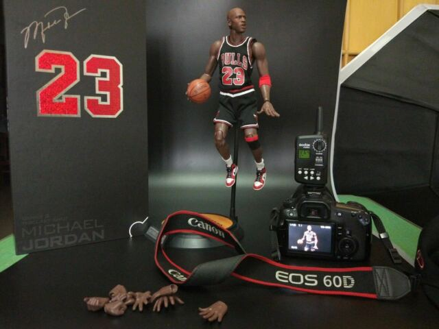 170683abd61d18 NBA Real Masterpiece Michael Jordan 23 Black Jersey 1 6 Action Figure New  In Box