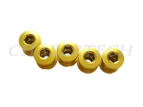 New MTB Road Bike Alloy 7075 Double Speed 8.5mm Chain Ring Bolt Nut Set Gold