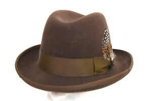 L Men/'s Godfather Dress Hat Solid Rust GF-106 100/% Wool Sizes S M XL
