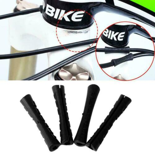 4Pcs Outdoor Bicycle Brake Shift Line Sleeve Black Cable Protector Rubber W1X9