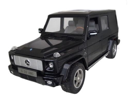 RC Mercedes G55 AMG 1:14 schwarz 27MHz ferngesteuertes Modellauto mit LED Licht