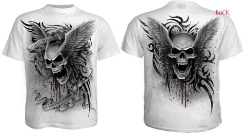 Lobo//Skeleton // Spiral Direct 2016 Rango Blanco Camisetas// Calavera// Ángel