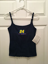 NWT Jeff Gordon #24 DuPont NASCAR Nextel Racing Women's Blue Tank Top Medium
