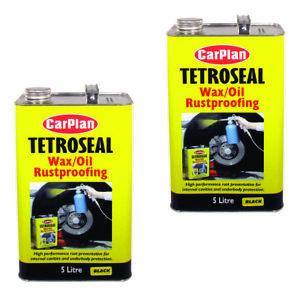 CarPlan TWO006 Tetroseal Black Wax Oil Rustproof 5 Ltr