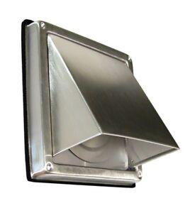 Edelstahl Ablufthaube LG 5510 L Lüftungsgitter DN 100 int. Außenverschlussklappe
