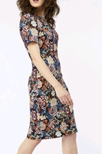 Bnwt 14 Multi Dress Monsoon 5045461280955 Uk Coloured Jacquard Mal Floral T8nq7v