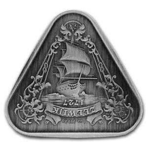 2021 Australian Zeewijk Shipwreck 1oz .999 Silver Antiqued Triangle Coin Capsule