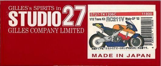 Studio27 1 12 Transparent Kit Honda Rc 211v Repsol Moto Gp '02